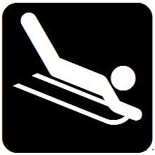 Sledding Tubing Icon